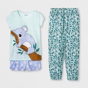 NWT Cat & Jack Koala Pajama 3-piece Set
